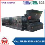 O combustível contínuo barato Corrente-Raspa a caldeira de vapor dobro de carvão do cilindro