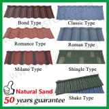 Песок с покрытием Плитка Стальные крыши Металл крыши Плитка из Гуанчжоу