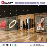 P3.75/P5/P7.5/P10/P16/P20 a todo color transparente/vidrio/pantalla de visualización video de la ventana/de la cortina LED/muestra/pared para hacer publicidad