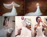 2017 Nouvelle mode Backless sexy robe de mariée de mariage de trompette Mermaid