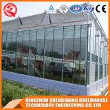 A agricultura pré-fabricou uma casa verde de vidro dos jardins do batente