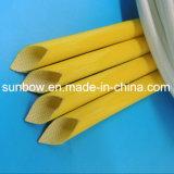 Fibres de verre enduits de silicone de température élevée gainant pour l'isolation de fil