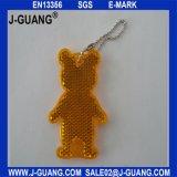 Keychain riflettente di plastica, riflettore dell'orso dell'orsacchiotto (JG-T-01)