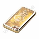 iPhone 5 5s Seのための透過プラスチック3Dきらめきの流砂および星の液体の箱