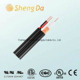 75 ohm Rg59 Power Wire Wihte cabo coaxial Date Cable