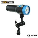 Heißer verkaufenCREE Xml 2 LED maximale 2600 Lm imprägniern 100m das tauchende Licht mit dem fünf Farben-Licht für Video