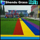 Открытый полу декоративные Rainbow искусственных травяных 20мм