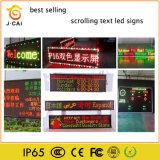 Rotes weißes grün-blaues Gelb des Verschieben- der Bildschirmanzeigetext-LED des Zeichen-P10