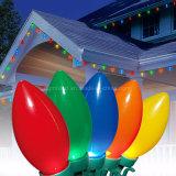 Luz de Natal nevoenta Multicolor da lâmpada da vela de E12 E17