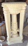 Sculpture sur pedestal en plein air Sculpture Polyresin Flowerpot pour décoration de jardin