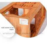 Retro Craving Art Storaging Carboned Bamboo Rectangle Wine Box