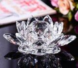 Корабль лотоса кристаллический стекла ремесленничества для домашнего украшения