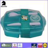 Casella variopinta di Bento della casella di pranzo del recipiente di plastica