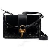 El bolso más nuevo de la manera del bolso de la honda de Crossbody del cuero del ante de las mujeres del estilo con los espárragos Emg5018