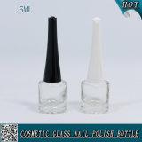 5ml Cilindro Botella de barniz de uñas transparente Botella de vidrio de botella de uñas vacía