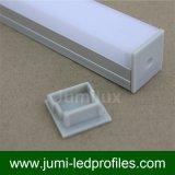 Perfil aletado cuadrado del LED