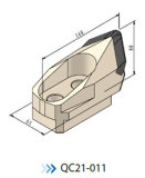 Herramientas para túneles para tuberías Herramientas para túneles Micro Cutter Bit QC21-011 Bfm16