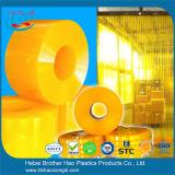 Cortina de tiragem de PVC transparente e transpiravel anti-UV, cortina de porta de PVC