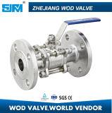 Reducción de presión válvula de bola de brida de acero al carbono