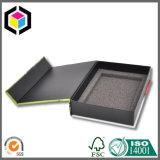 Различная роскошная черная коробка подарка картона бумаги текстуры с крышкой