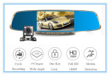 5 polegadas IPS Screen Car DVR espelho com grande angular