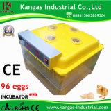 Incubateur automatique d'oeufs de poulet de certificat de la CE de qualité pour 96 oeufs