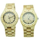 Relógio de pulso do OEM da fábrica nova do projeto e relógio baratos feitos sob encomenda do bambu para pares