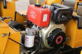 Rullo vibrante della doppia benzina del timpano da 0.8 tonnellate