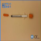 1ml/0.5ml Medical Disposable Orange Cap Insulin Syringe