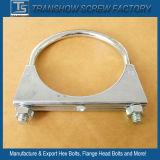 Galvanisierte Stahlschraubbolzen-Bohrrohrklemmen des auspuff-U