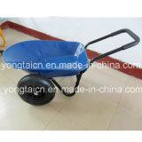 5 Cubic Feet Bandeja de metal Garden Wheelbarrow com rodas duplas