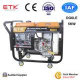 5KW Air-Cooled conjunto gerador a diesel com grandes rodas
