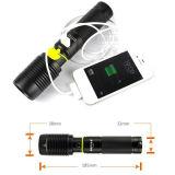 CREE xm-L T6 Maçarico de banco de alimentação recarregável USB