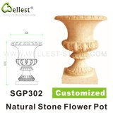 Pedra Natural Amarelo / Bege / White Sandstone / Granito / Mármore Customized Garden Flower and Plant Pot