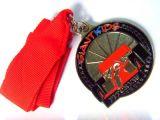 Изготовленный на заказ трудное медаль эмали с глянцеватой серебряной отделкой