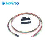 12 позиционный черный круглый кабель Оптоволоконные комплекты из вентилятора с 12 ПК 0.9mm трубы 25''
