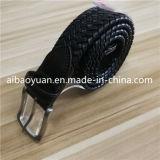 Cinghia Braided nera intrecciata degli uomini delle strisce di cuoio