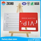 Venta caliente personalizada PVC duro etiqueta del equipaje