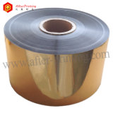 Золотистая металлизированная пленка BOPP материальная прокатывая