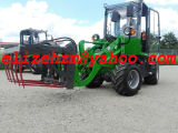 新しいデザインHzm 800kgの小型小さい車輪のローダーの農場トラクターのローダーHzm 908t/Jn908