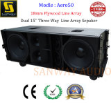 Aro50 Dual 15 Three Way 18mm Plywood Line Array Speaker
