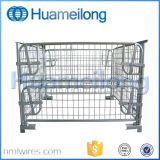 De Kooi van de draad met de Houten Container van het Netwerk van de Draad van de Pallet
