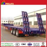 반 반 40-60tons 2-3 차축 굴착기 트럭 Lowboy 낮은 침대 트레일러