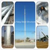 Professional de télécommunications des tours de tuyaux en acier pour téléphone cellulaire de la radiodiffusion de signal