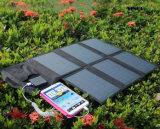 태양 충전기, 까만 색깔 (FSC-21B)에 있는 6개의 겹을%s 가진 옥외 태양 전지판 충전기를 접히는 21W Portable