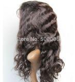 peluca brasileña del cordón de /Full de la peluca del frente del cordón del pelo de la Virgen de la onda de la carrocería del grado 7A