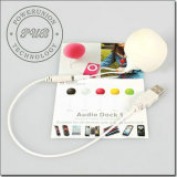 Мягкий шарик 3,5 мм разъем Mini Аудио док-станция для iPhone и iPod, компьютера и мобильного телефона