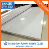 Folha rígida plástica branca altamente lustrosa do PVC 4*8 para a impressão