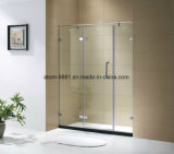 """3/8 """" de vidro, croma a cabine do chuveiro da porta do chuveiro do aço inoxidável para o banheiro"""