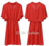 Конструкция высокого качества самая последняя одно платье женщин части вскользь